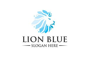 Lion Blue Logo