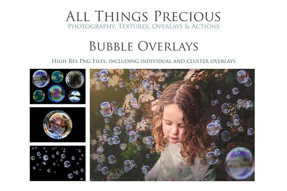 Fine Art Real Bubble Overlays