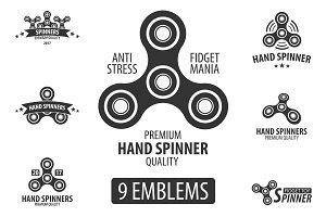 Hand Spinner Emblems set