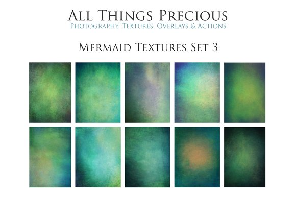Fine Art Mermaid Textures Set 3