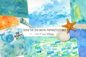 Under the Sea Watercolor Textures