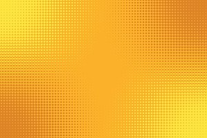 Golden yellow orange pop art background with halftone effect