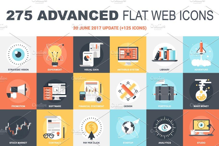275 Advanced Flat Web Icons