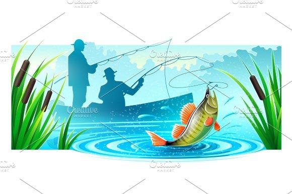 Fishermen Fishing Boat Catched Big Fish