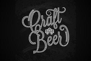beer vintage chalk lettering
