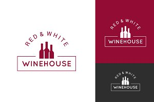 wine logo set design background