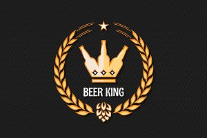beer bottle concept logo background