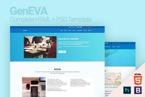 GenEVA HTML + PSD Template