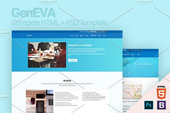 GenEVA HTML PSD Template