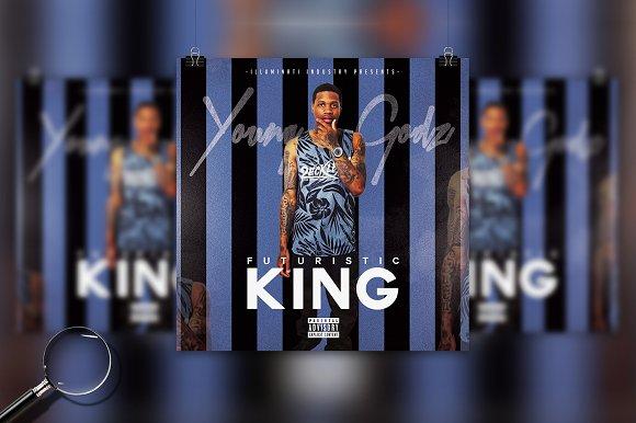 Futuristic King Cover Template