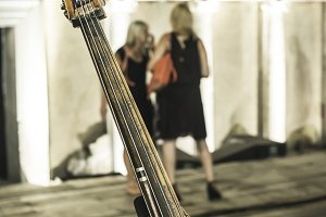 Contrabass on classical concert