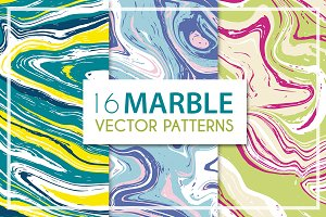 Vector vivid marble patterns