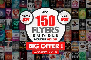 150 Giga Flyer Bundle + 10 Freebies