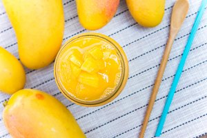 mango smoothies fruits