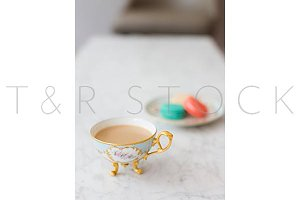Macarons & Tea Cup Brand Photography