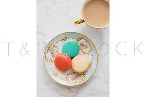 Macarons & Coffee Styled Photo