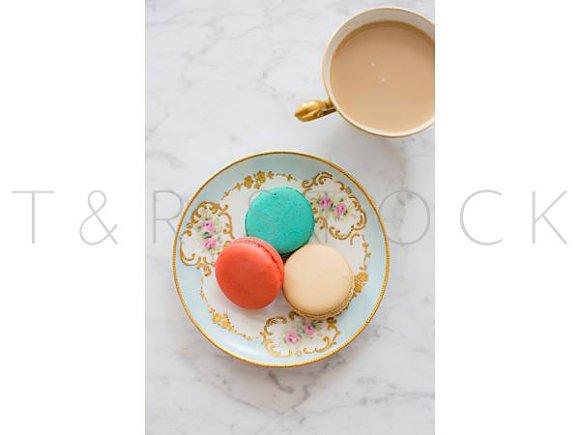 Macarons Coffee Styled Photo