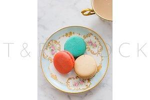Macarons & Coffee Flat Lay Photo