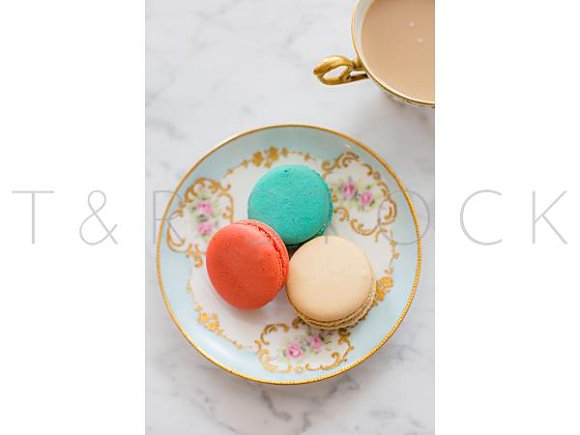 Macarons Coffee Flat Lay Photo