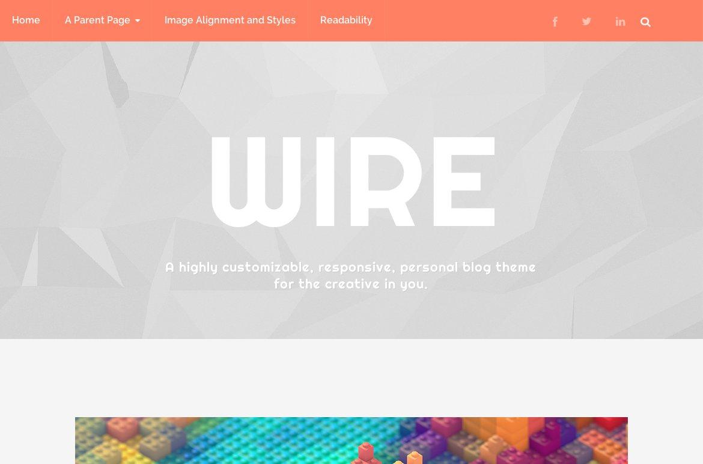 Wire ~ WordPress Blog Themes ~ Creative Market