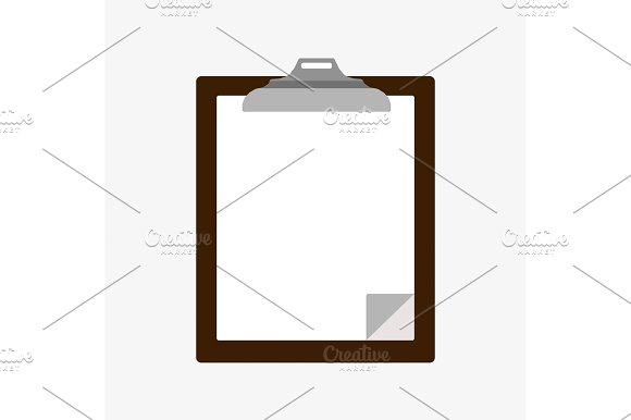 Blank Wooden Clipboard With Paper