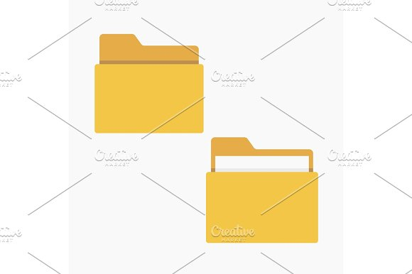 Open And Close Folder With Documents