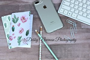 Desk Mockup with Cactus Notebooks-1