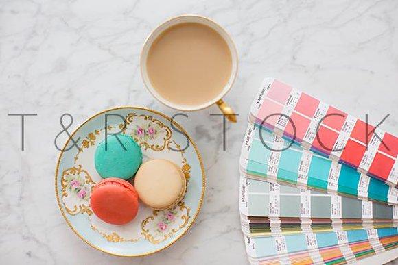 Macaron Tea PMS Pantone Book