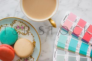 Coffee Macarons & Pantone PMS Photo