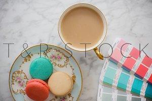 Pink & Blue Macarons & Pantone PMS
