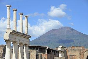 Vesuvius volcano, Pompeii, Italy