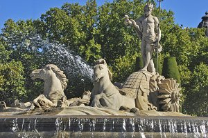 Fountain of Neptune, Madrid, Spain