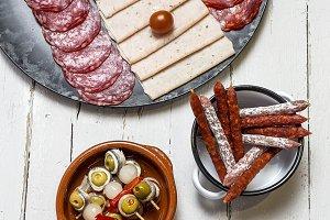Assortment of sausages