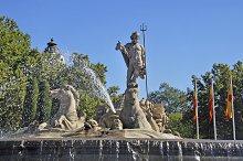Madrid, Spain. Statue of Neptune