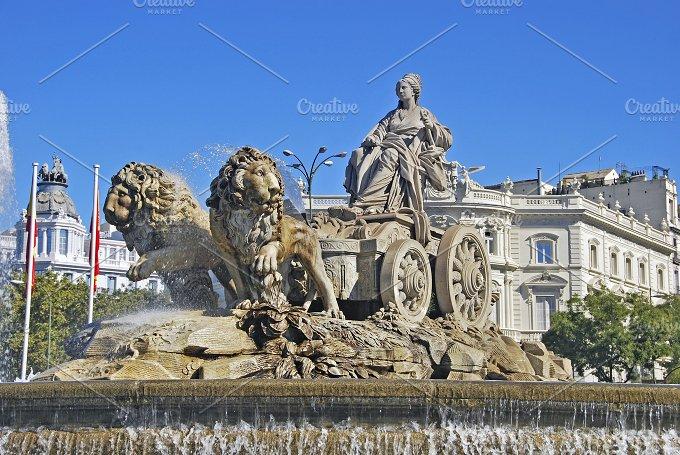 Fountain of Cibeles. Madrid, Spain - Architecture