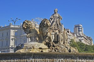 Cybele fountain. Madrid. Spain
