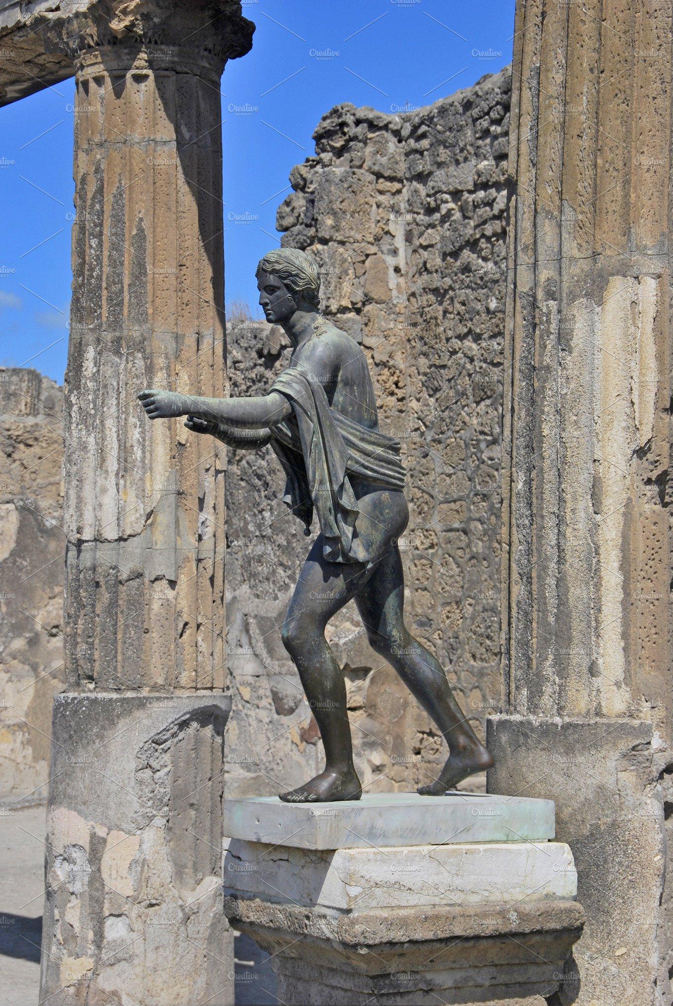 Statue Of Apollo Pompeii Italy Arts Amp Entertainment