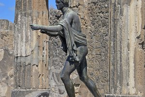 Statue of Apollo, Pompeii, Italy