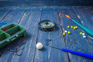 Carp Leader. Wagler, boilies, carp hook. Sport fishing. Carp fishing.