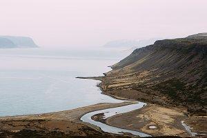 Nordic Landscape w/ Mountains & Sea