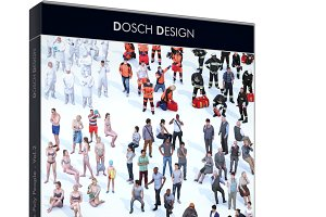 Dosch 3D: LoPoly People Vol.2 - 3ds