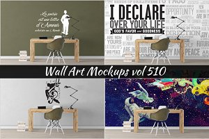 Wall Mockup - Sticker Mockup Vol 510