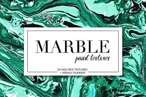 Marble paint textures set