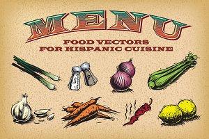 Hispanic Cuisine Graphic Elements