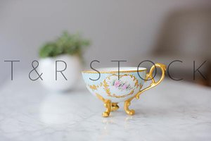 Tea Cup with Feet and Plant Photo