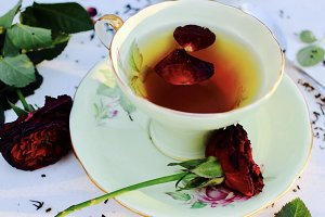 Rose Tea and Roses