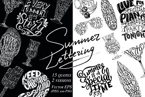 - 50 % OFF Summer Lettering Quotes