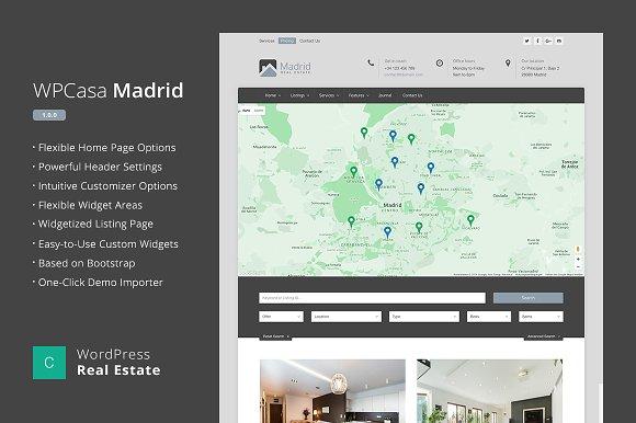 Real Estate WordPress WPCasa Madrid