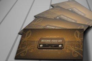 National Radio Day Invitation Card