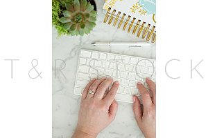 Hands on Keyboard Succulents Desktop